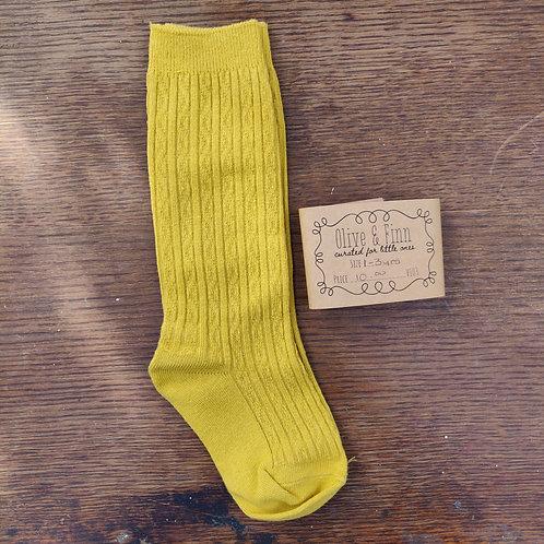 Knee Socks - Mustard Yellow -1-3yrs