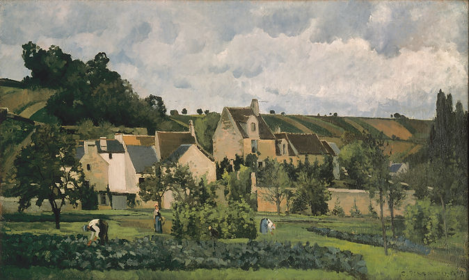 L'Hermitage à Pontoise, 1867,  Wallraf-Richartz-Museum,  Fondation Corboud, Cologne, Germany  [PDRS 119]