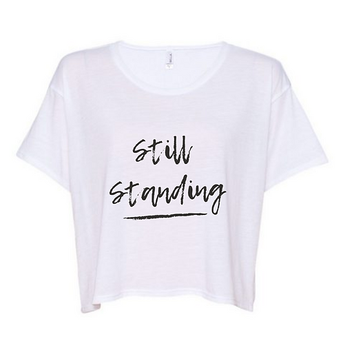 Still Standing Box Crop Tee