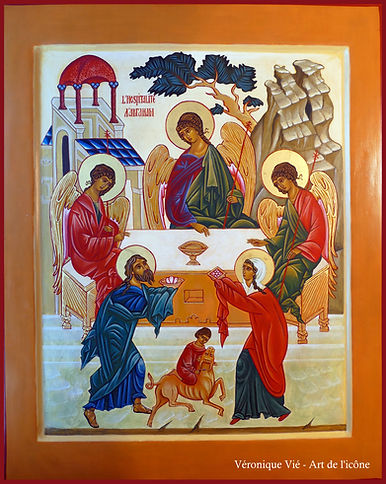 icône hospitalité abraham Trinité véronque vié art de l'icône