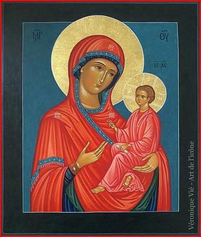 icône Vierge de Tikhvin tendresse Atelie