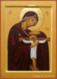 Icône de la Mère de Dieu de Ravensbruck Mère Marie Skobtsov véronique vié art de l'icône
