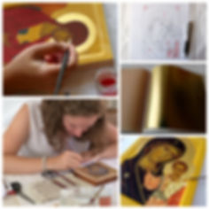 cours iconographie icônes écriture atelier art de l'icône véronique vié apprendre stage