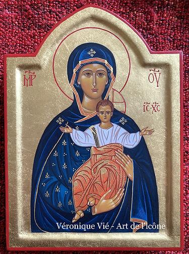 icône Vierge Marie bleue Véronique Vié A