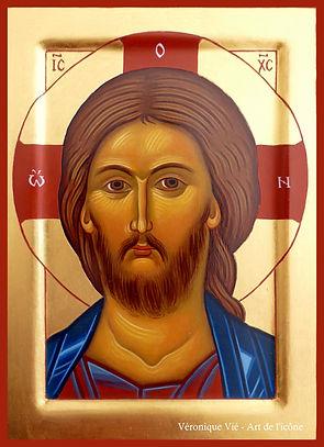icône Christ Jésus Sauveur visage véronique vié art de l'icône