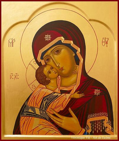 vierge de tendresse mère de dieu de vladimir véronique vié art de l'icône