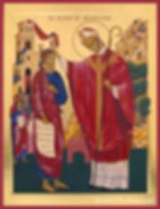 icône bienheureux alain de solminihac cahors véronique vié art de l'icône année vocations