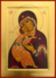 Vierge de tendresse Mère de Dieu de Vladimir art de l'icône véronique vié