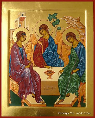 Icône de la Trinité Véronique Vié