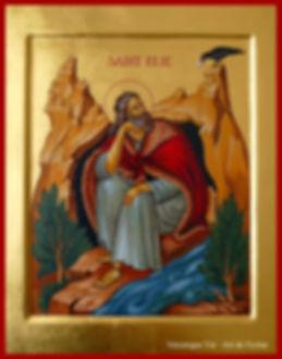 icône saint Elie au désert véronique Vié art de l'icône prophète
