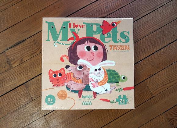 Londji, I love my Pets - 7 Reversible Puzzles