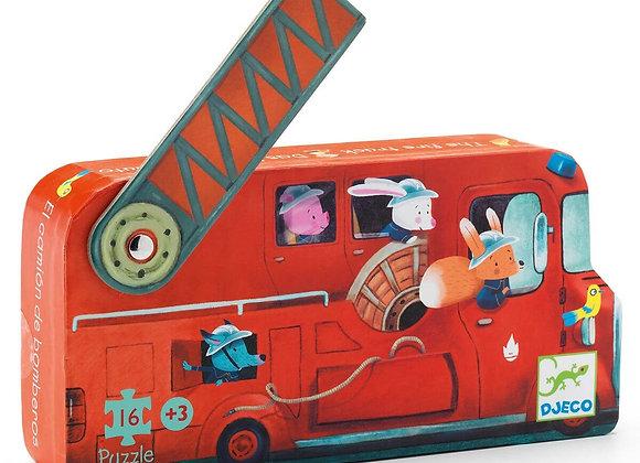 Djeco, Puzzle - Das Feuerwehrauto