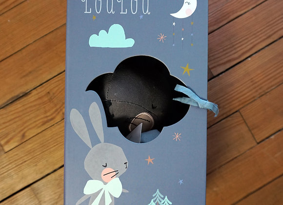 Picca Loulou, grauer Hase in Geschenkbox