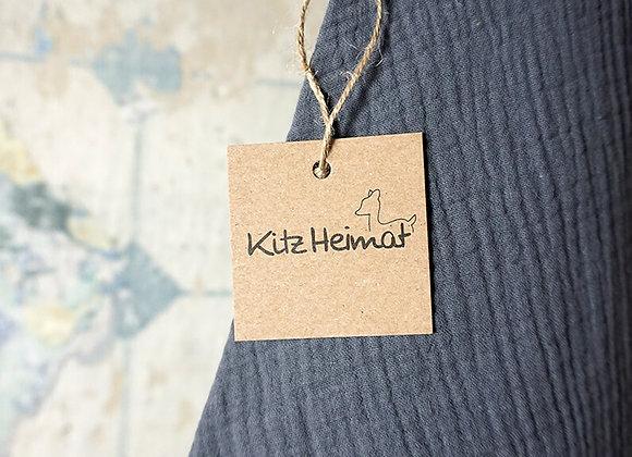 Kitz Heimat, Dreieckstuch Musselin Grey - Größe S