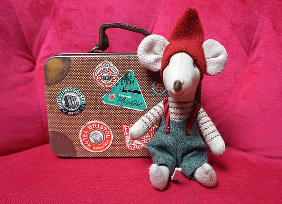 Maileg, Christmas Mouse in suitcase - Little brother