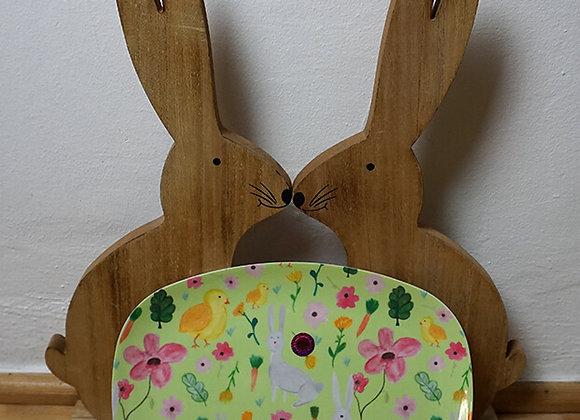 Rice, rechteckige Melaminplatte - Easter Print, hellgrün