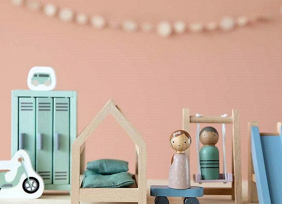 Little Dutch, Puppenhaus Spielset Kinderzimmer