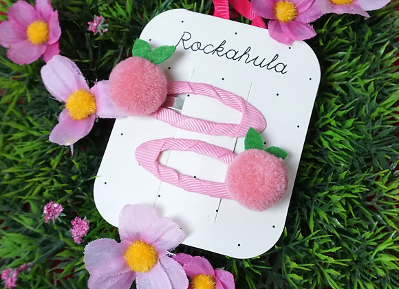 Rockahula Kids, Haarspangen - Sweet Berry Pom Pom Clips