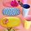 Thumbnail: Rice, rechteckiger Melamin Desserteller - Pink Dot Print, small