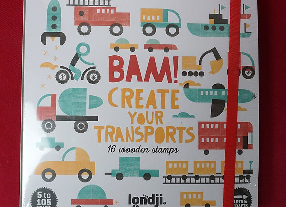 londji, Bam! Create your Transports -  16 Holzstempel