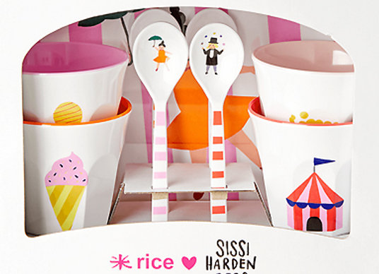 Rice, Geschirr-Geburtstagsset - Zirkus