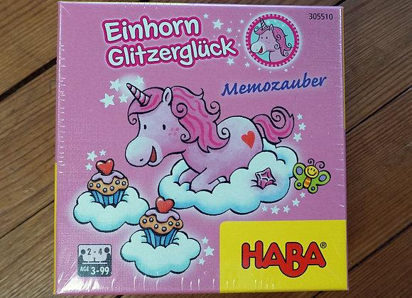 Haba, Einhorn Glitzerglück - Memozauber