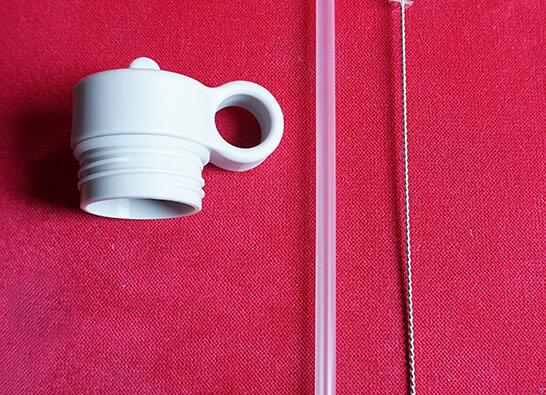 Liewood, Deckel, Strohhalm und Reinigungsbürste - Neo Water Bottle, Light Grey