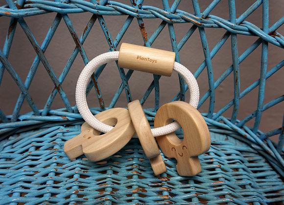 Plan Toys, Schlüsselrassel aus Holz