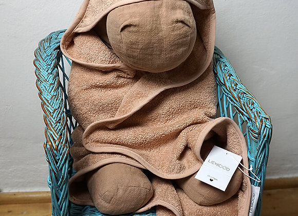 Liewood, Albert Hooded Towel - Mouse Pale Tuscany