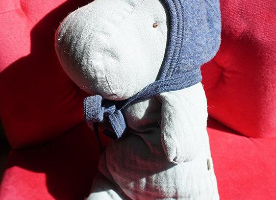 Engel, Warme Babymütze - 100% Schurwolle, blau