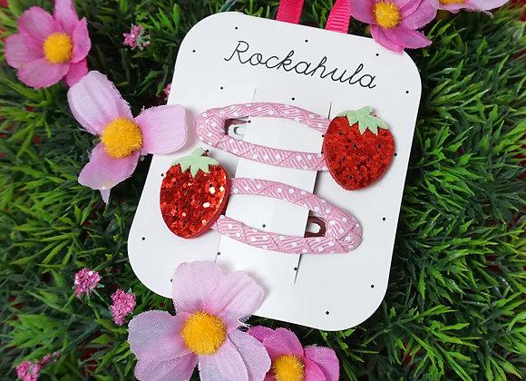 Rockahula Kids, Haarspangen - Sweet Strawberry Glitter Clips