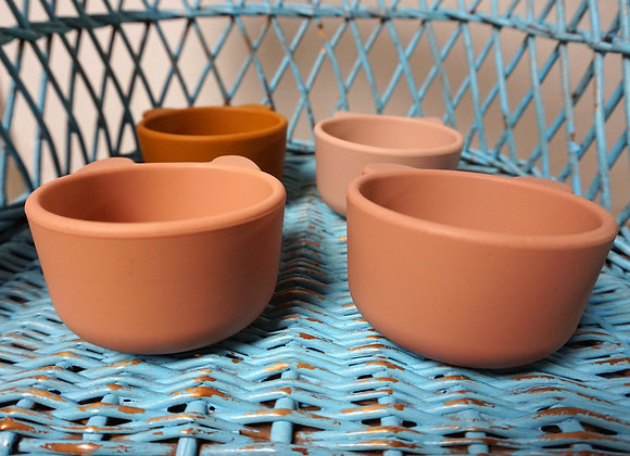 Liewood, Silicone Bowl, 4 Pack - Rose Multi Mix