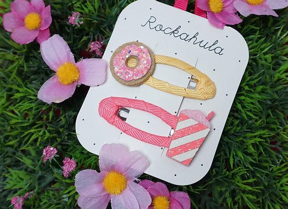 Rockahula Kids, Haarspangen - Donut and Milkshake Clips