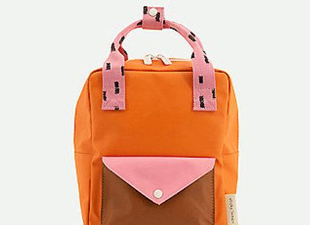 Sticky Lemon, Small backpack sprinkles, envelope - carrot orange, bubbly pink