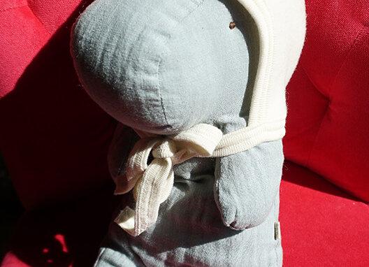Engel, Warme Babymütze - 100% Schurwolle, wollweiß