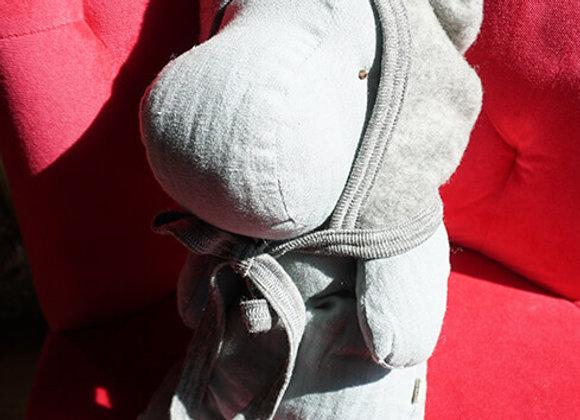 Engel, Warme Babymütze - 100% Schurwolle, hellgrau