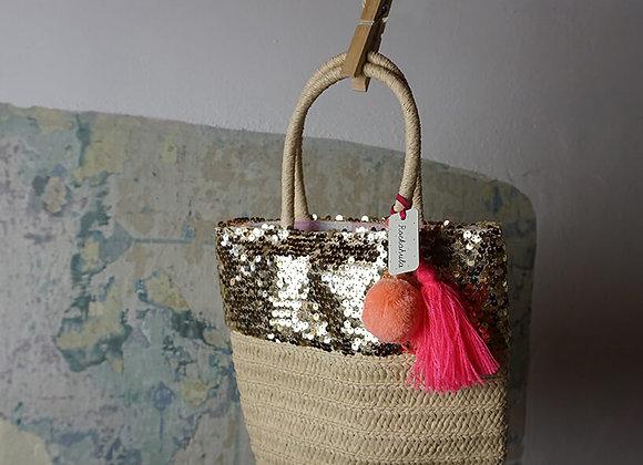 Rockahula Kids, Tasche - Sequin Pom Pom Basket