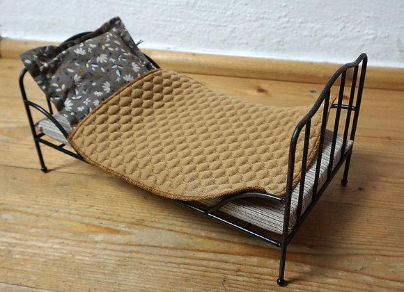 Maileg, Vintage Bett, Mini, Anthrazit - Miniature furniture
