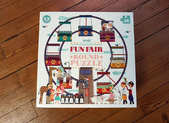 Londji, Fun Fair/Jahrmarkt - Round Puzzle