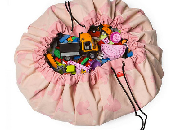 play&go, Spielzeugsack - pinker Elefant - designed by Little Lovely