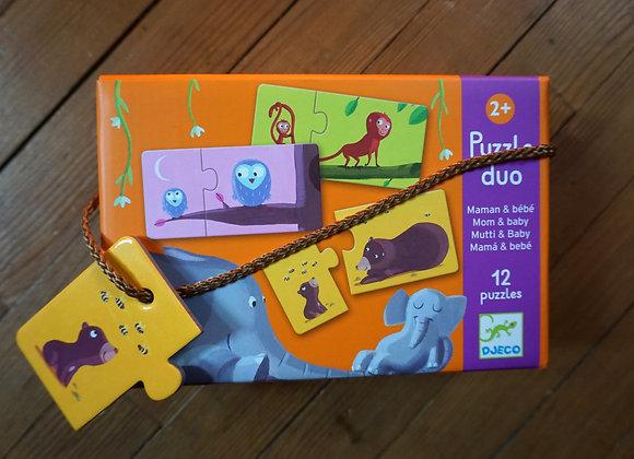 Djeco, Puzzle Duo - Mutti & Baby