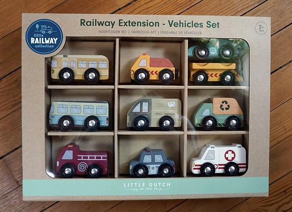 Little Dutch, Holzeisenbahn Erweiterung - Fahrzeug-Set