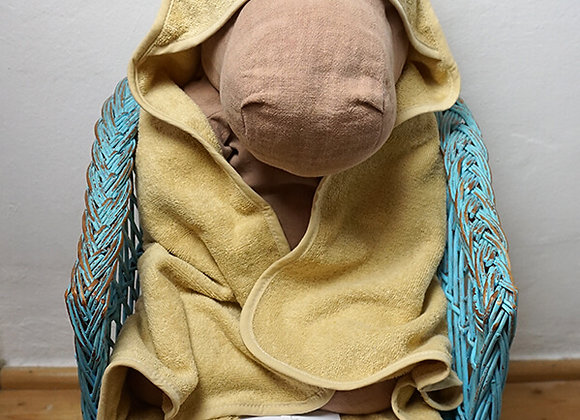 Liewood, Albert Hooded Towel - Mouse Wheat Yellow