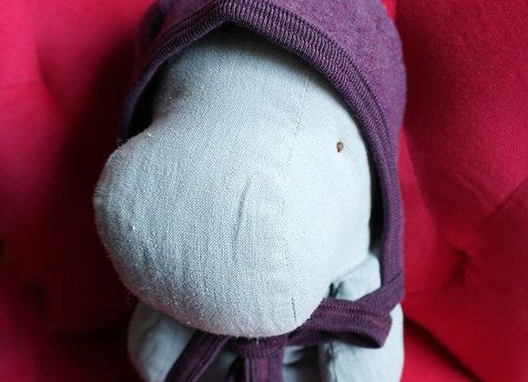 Engel, Warme Babymütze - 100% Schurwolle, Lila Melange