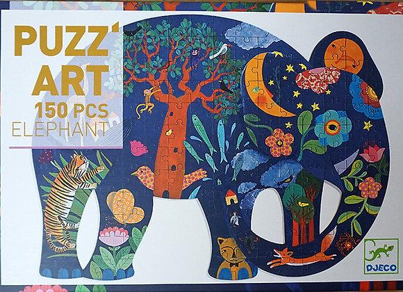 Djeco, Puzz' Art, Elefant - Puzzle