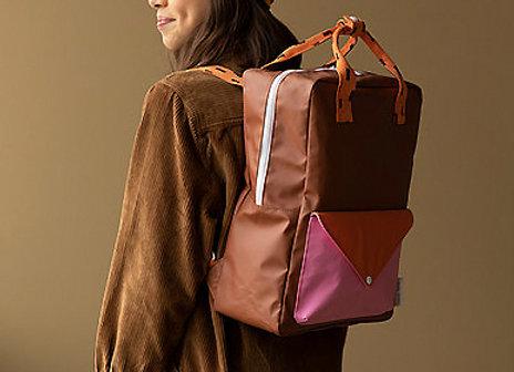 Sticky Lemon, Large backpack sprinkles, envelope - syrup brown, carrot orange