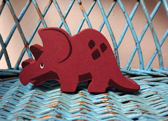 tender leaf toys, Holztier - Triceratops