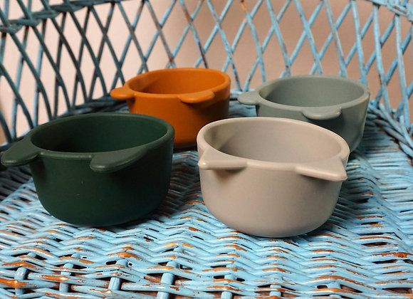 Liewood, Silicone Bowl, 4 Pack - Green Multi Mix
