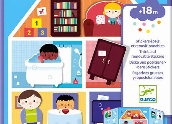 Djeco, Dicke und positionierbare Sticker - Haus