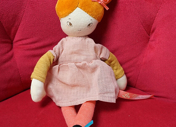 Moulin Roty, Stoffpuppe Melle Agathe - Les Parisiennes